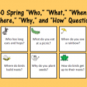 """Spring """"Who,"""" """"What,"""" """"When,"""" """"Where,"""" """"Why,"""" And """"How"""" Questions"""