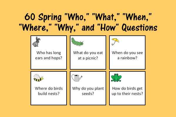 "Spring ""Who,"" ""What,"" ""When,"" ""Where,"" ""Why,"" and ""How"" Questions"