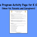 Home Program Activity Page For K Sound