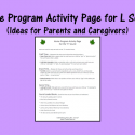 Home Program Activity Page For L Sound