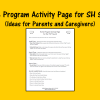 Home Program Activity Page for SH Sound - Ideas for Parents and Caregivers