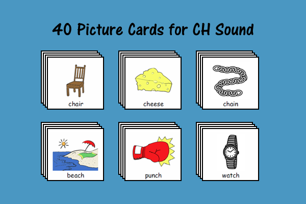 Picture Cards for CH Sound