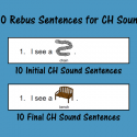 Rebus Sentences For CH Sound