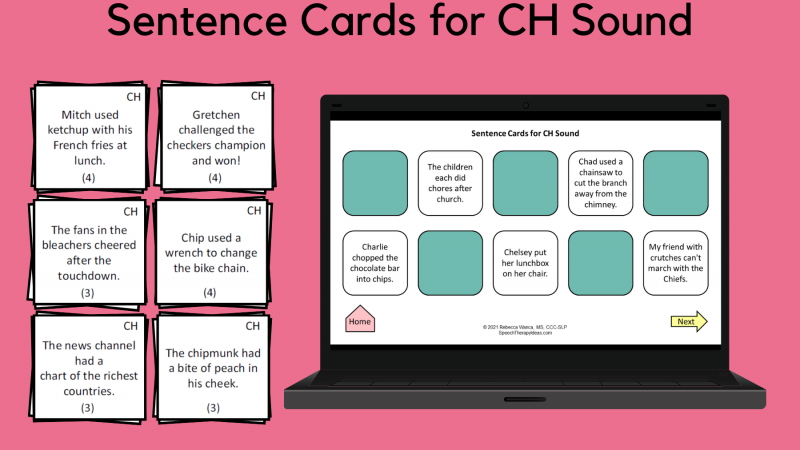 Sound Sentences For CH Sound