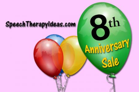 Speech Therapy Ideas 8th Anniversary Sale!