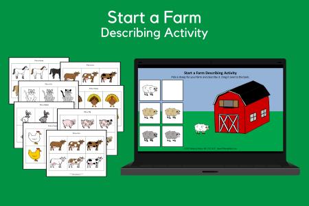 Start a Farm Describing Activity