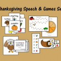 Thanksgiving Speech & Games Set