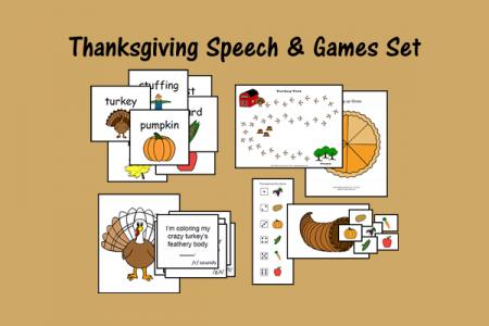 Thanksgiving Speech & Games Set