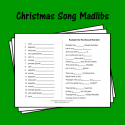 Christmas Song Madlibs
