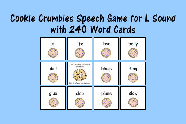 Cookie Speech Sound Cards L
