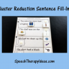 Cluster Reduction Sentence Fill-ins