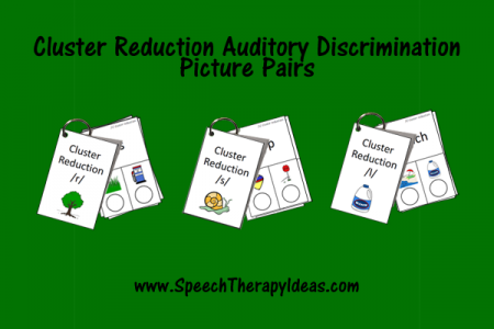Cluster Reduction Auditory Discrimination Picture Pairs