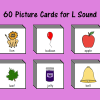 60 Picture Cards for L Sound