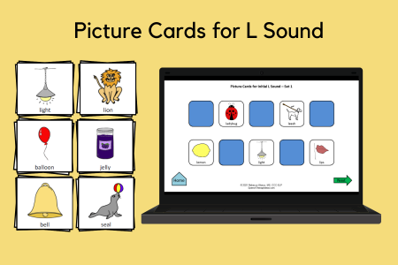 Picture Cards for L Sound