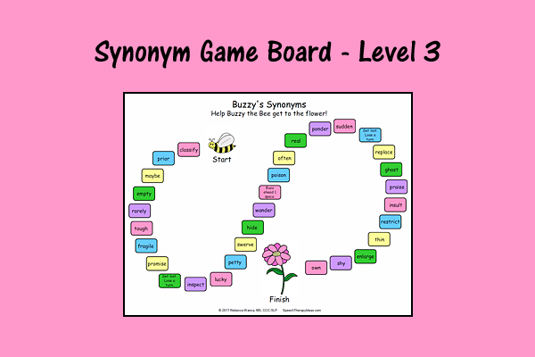 Synonym Game Board – Level 3