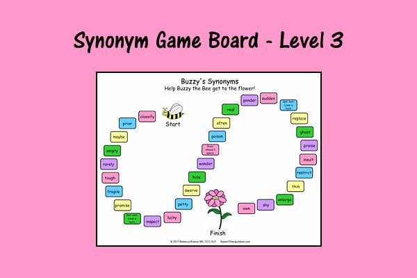 Synonym Game Board – Level 3