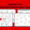 Valentine's Day Articulation Reinforcement Pages