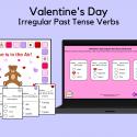 Valentine's Day Game For Irregular Past Tense Verbs