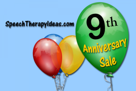 Speech Therapy Ideas 9th Anniversary Sale!
