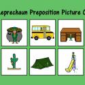 Leprechaun Preposition Picture Cards
