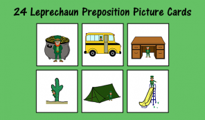 Leprechaun Preposition Picture Cards
