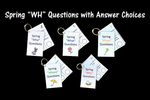"Spring ""WH"" Questions With Answer Choices Wh Questions"