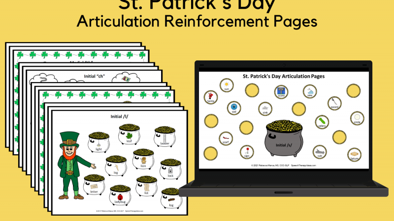 St. Patrick's Day Articulation Reinforcement Pages