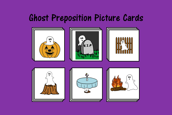 Ghost Preposition Picture Cards