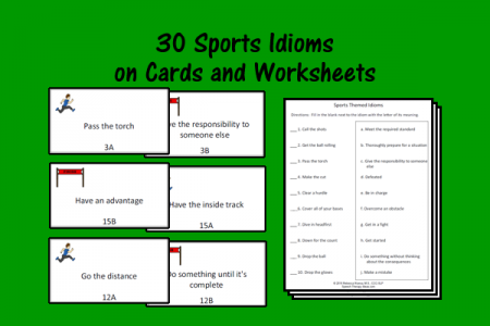 Sports Idioms Cards and Worksheets