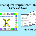 Winter Sports Irregular Verb Tense Cards And Game