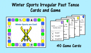 Winter Sports Irregular Past Tense Cards and Game