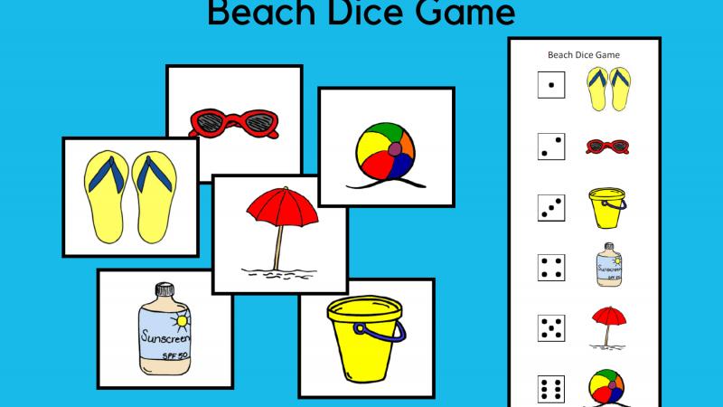 Beach Dice Game