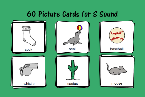 Picture Cards For S Sound