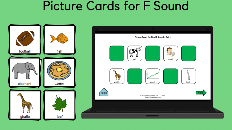 Picture Cards For F Sound
