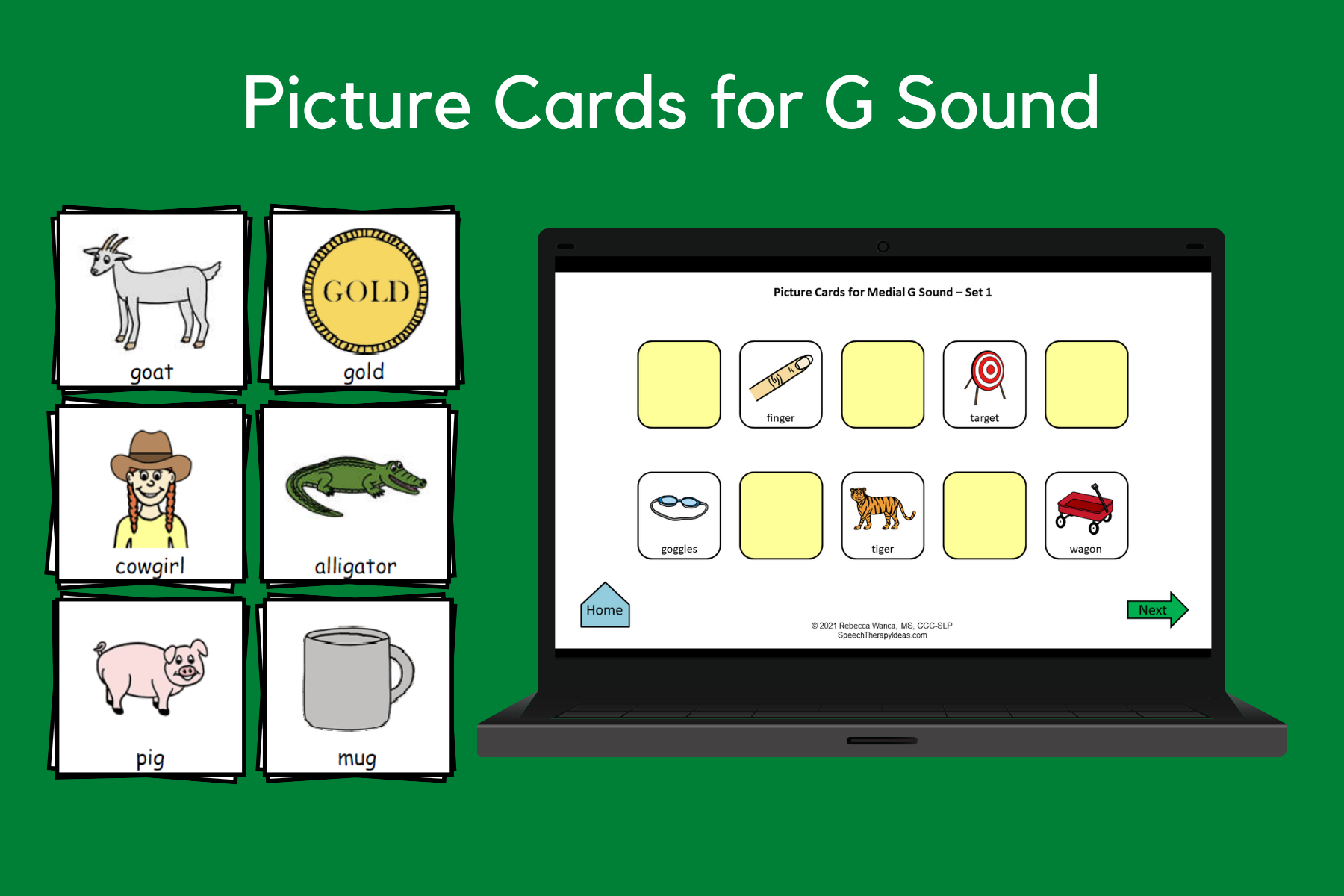 Picture Cards For G Sound