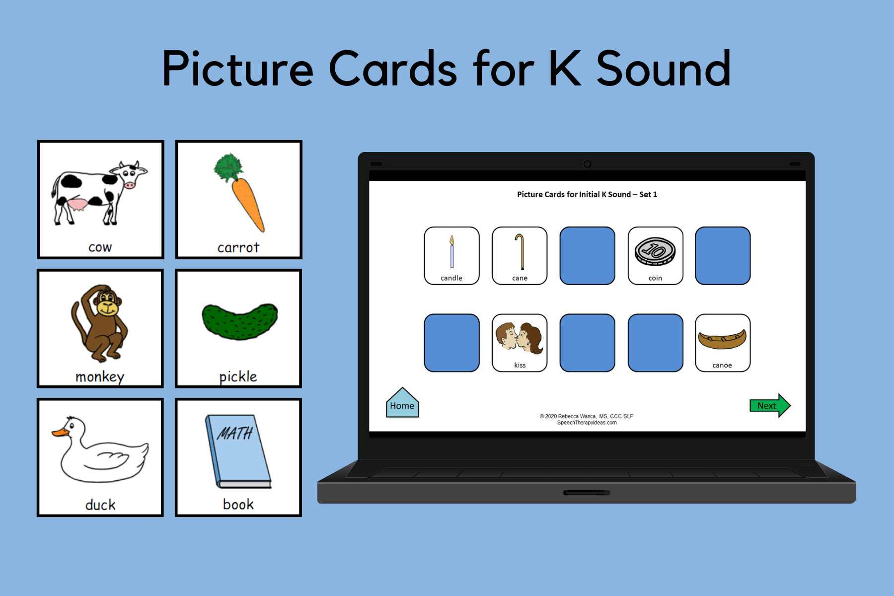 Picture Cards for K Sound