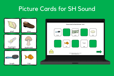 Picture Cards for SH Sound