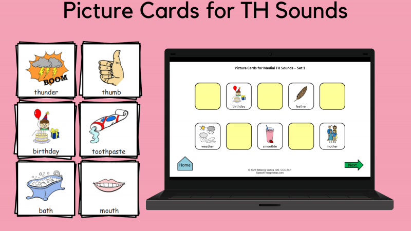 Picture Cards For TH Sounds