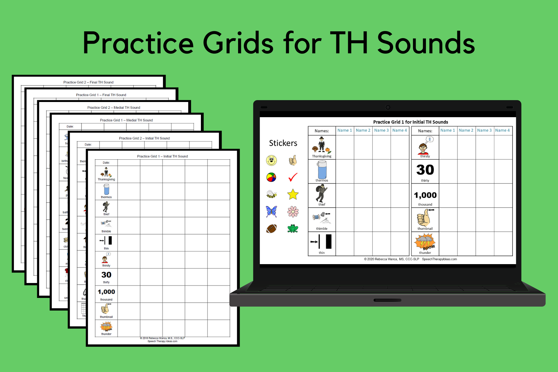 Practice Grids for TH Sounds