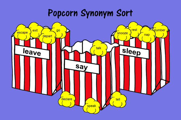 Popcorn Synonym Sort