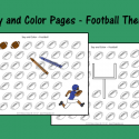 Say And Color Pages – Football Theme