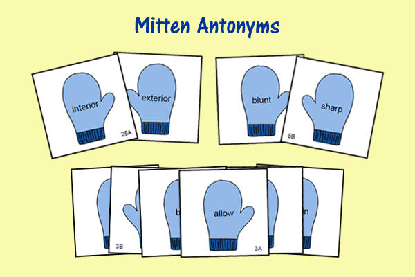 Mitten Antonyms
