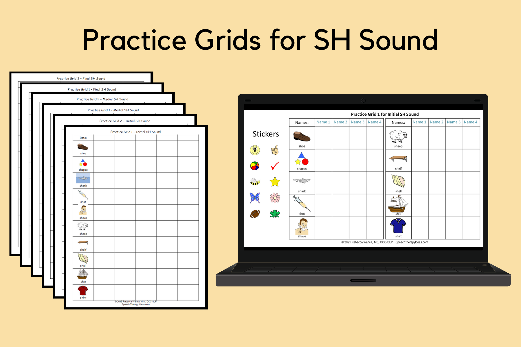Practice Grids For SH Sound