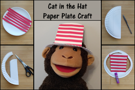 Cat in the Hat Paper Plate Therapy Activity