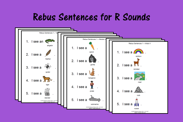 Rebus Sentences For R Sounds