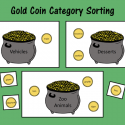 Gold Coin Category Sorting