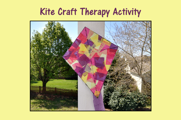 Kite Craft Therapy Activity – Free Printable!