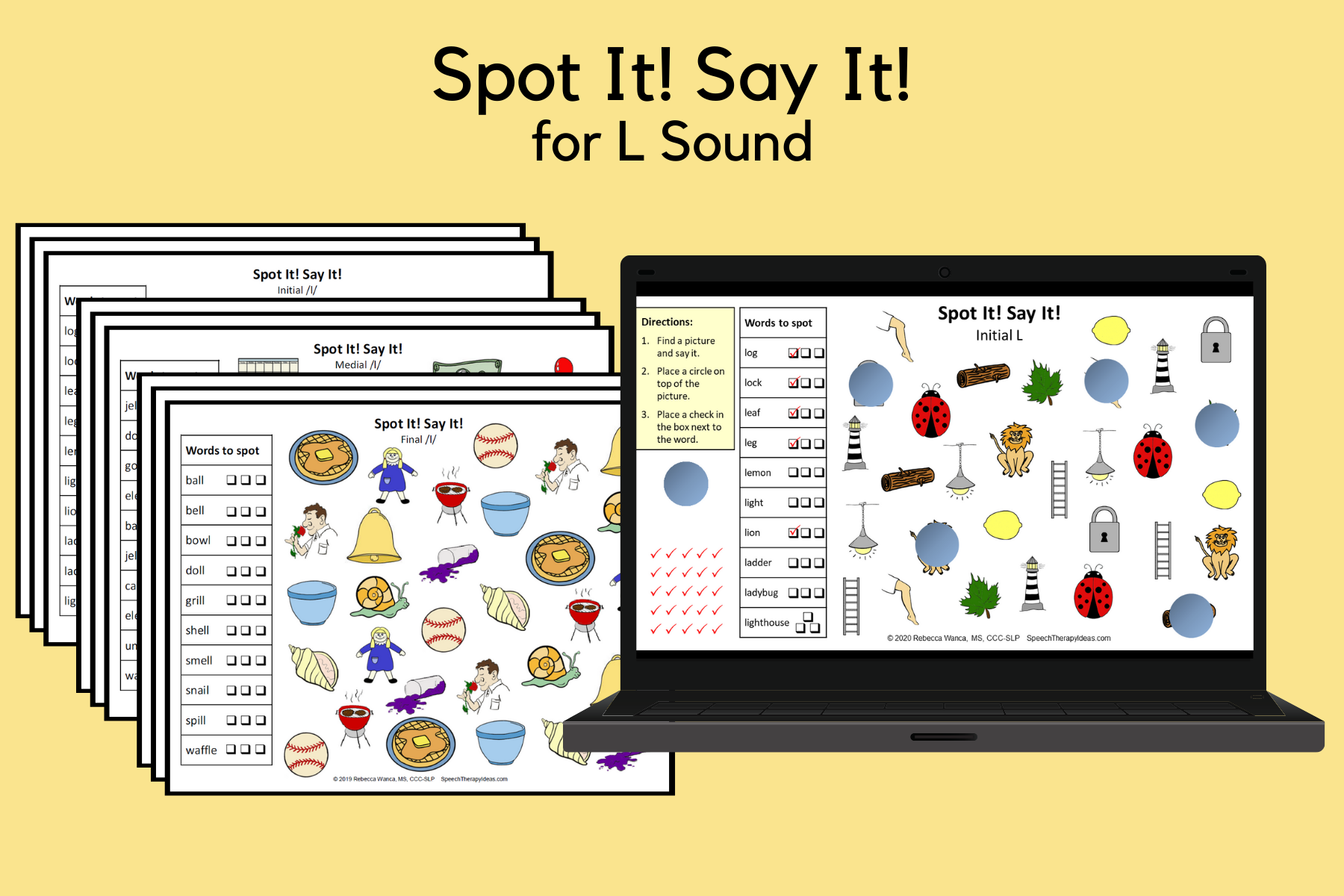 Spot It! Say It! Pages for L Sound