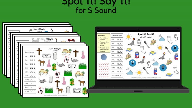 Spot It! Say It! For S Sound