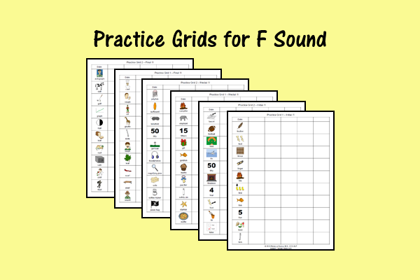 Practice Grids for F Sound